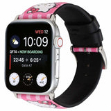 Hello Kitty Style Leather Compatible With Apple Watch Bands Strap - AshleySale
