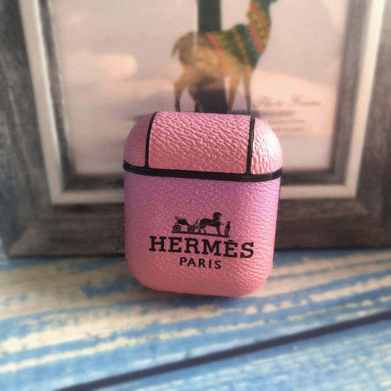 Hermes Style Ombre Leather Protective AirPods 1 & 2 Case - AshleySale