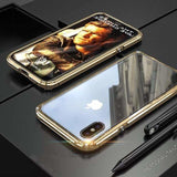 Hybrid Metal + Anti-Scratch Gorilla Glass HD Transparent Ultra Slim Sh - AshleySale