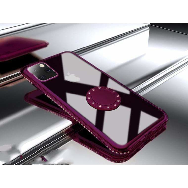 Jewel Ring Holder Bumper Frame Designer iPhone Case For iPhone 11 Pro Max X XS XS Max XR 7 8 Plus - AshleySale