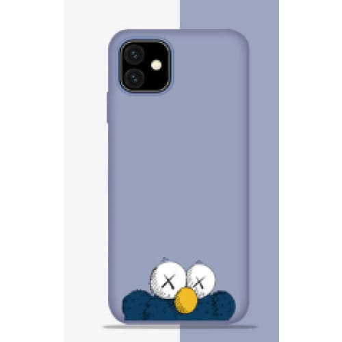 KAWS Style Sesame Street Silicone Designer iPhone Case For iPhone 11 Pro Max X XS XS Max XR 7 8 Plus - AshleySale