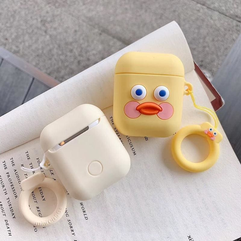 Lazy Dudu Duck Toast Cute Silicone Protective AirPods 1 & 2 Case - AshleySale