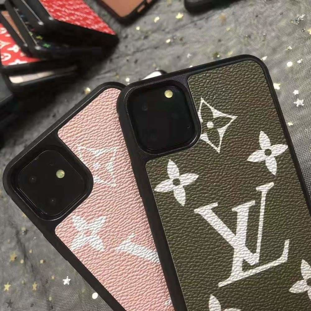 LOUIS VUITTON STYLE CLASSIC MONOGRAM LEATHER DESIGNER IPHONE
