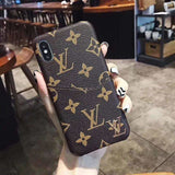 Louis Vuitton Style Damier Leather Cardholder Designer iPhone Case For iPhone X XS XS Max XR 7 8 Plus - AshleySale