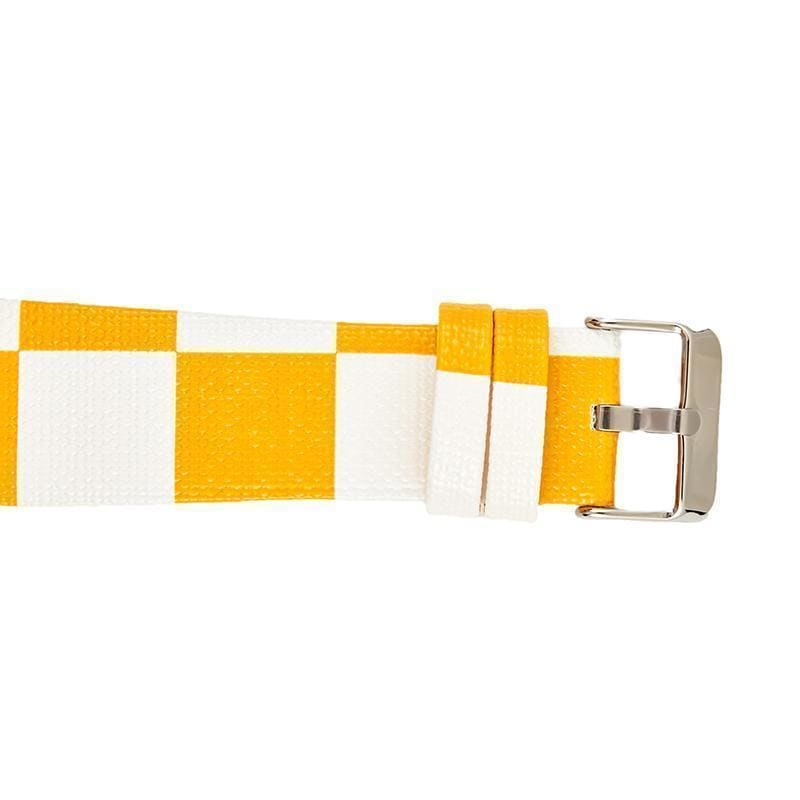 Louis Vuitton Style Yellow Damier Leather Apple Watch Band Strap - AshleySale