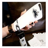 Luxury 3D Diamond Crown Leather Soft Designer iPhone Case With Lanyard - AshleySale
