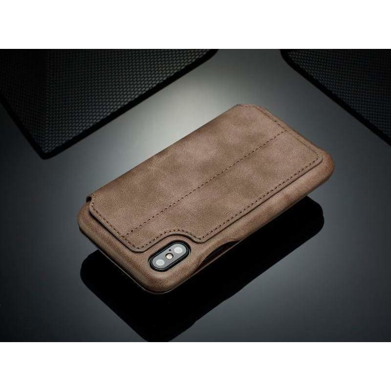 Luxury Detachable Flip Wallet Magnetic Leather Case with Car Magnetic - AshleySale