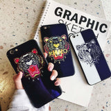 Luxury Fashion Kenzo Style Blue Ray Light Tiger Tempered Glass Designe - AshleySale