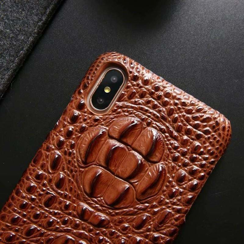 Luxury Genuine Leather Crocodile Protective Designer iPhone Case - AshleySale