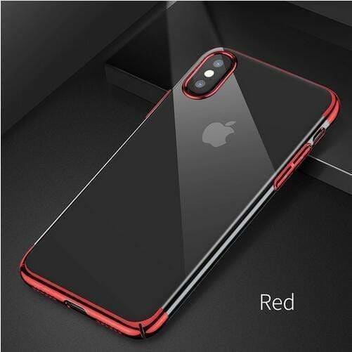 Luxury Plating Mirror Ultra Thin Hard Silicone Transparent iPhone Case - AshleySale
