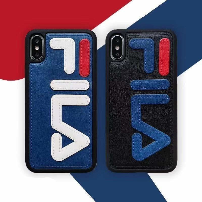 Luxury Sport FILA Style Tennis Quality Leather Bumper iPhone Case - AshleySale