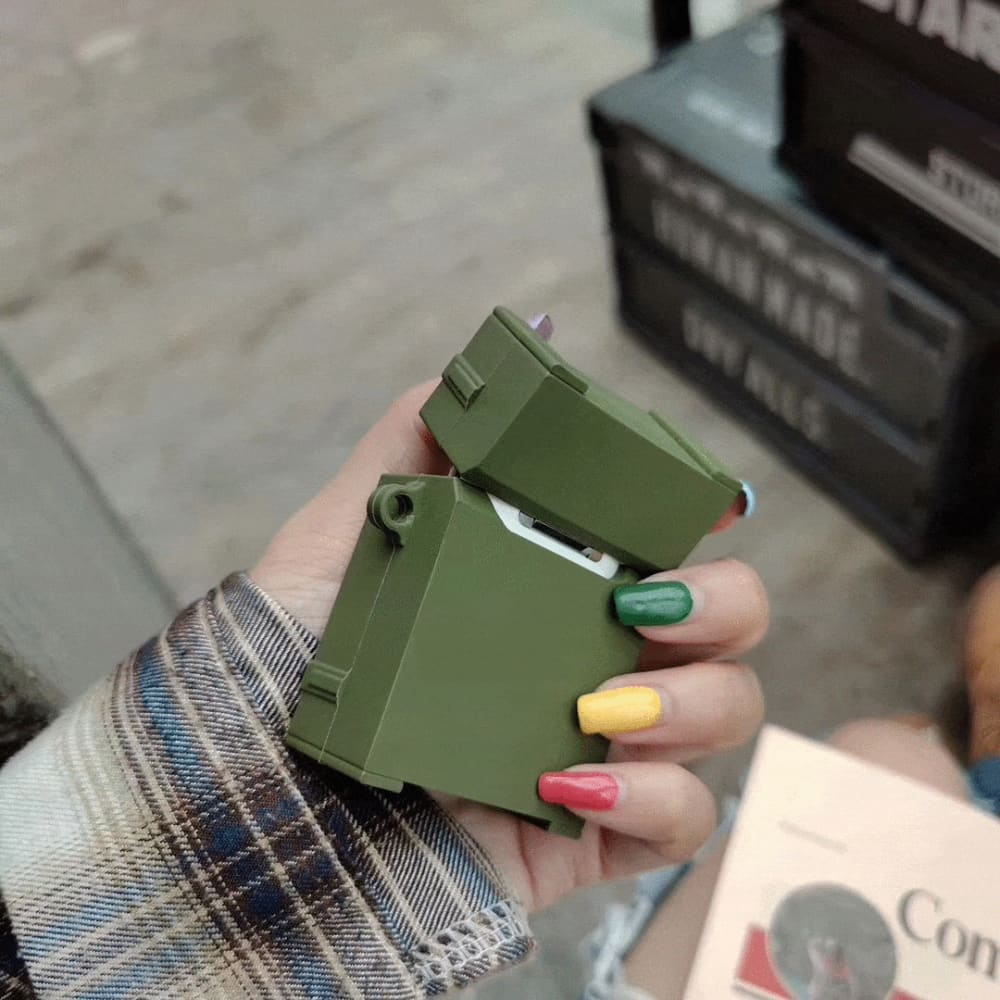 Madness Military Luggage Box Silicone Protective Shockproof Case For Apple Airpods 1 & 2 - AshleySale