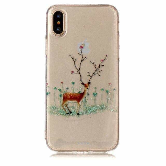 MARRY CHRISTMAS HAPPY NEW YEAR SOFT TPU BACK CASE FOR IPHONE