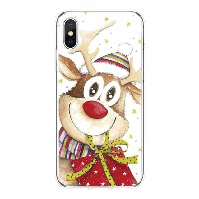 Merry Christmas for Cover iPhone 7 Case 6 6S 8 Plus XR 4 4S 5 5S 5C SE 11 Pro for Funda iPhone XS Max Case TPU for iPhone X Case - AshleySale