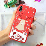 Merry Christmas Santa Claus Deer Print Silicone Soft TPU Case For iPhone 11 Pro 7 8 6 6S Plus XR X XS Max 5 5S SE Case Back Capa - AshleySale