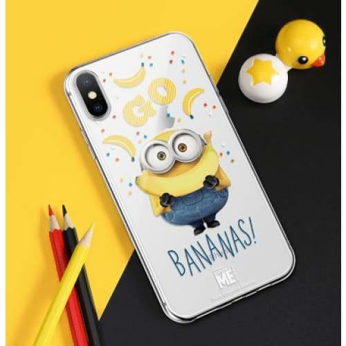 MINIONS BANANAS STYLE SILICONE DESIGNER IPHONE CASE FOR