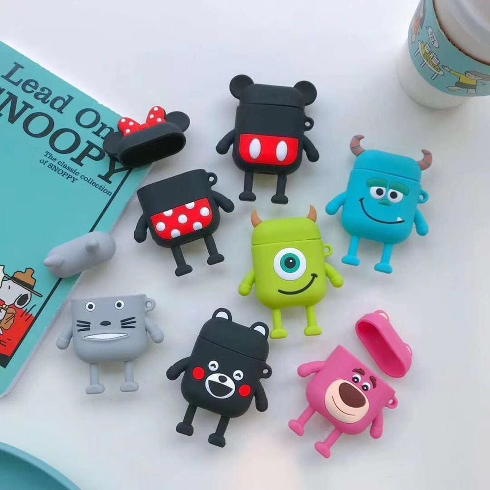 Monster University Minnie Mickey Silicone AirPods 1 & 2 Case - AshleySale