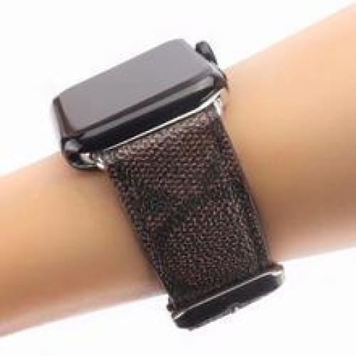 MORE COLORS Coach Style Leather Compatible With Apple Watch 38mm 40mm 42mm 44mm Band Strap For iWatch Series 4/3/2/1 - AshleySale