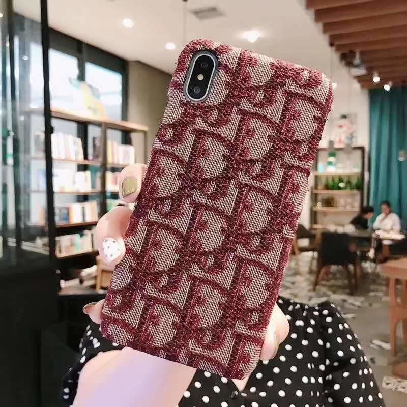 MORE COLORS Dior Style Classic Fabric Silicone Designer iPhone Case For iPhone X XS XS Max XR 7 8 Plus - AshleySale