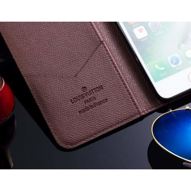 MORE COLORS Louis Vuitton Style Damier Wallet Leather iPhone Case For iPhone X XS XS Max XR 7 8 Plus - AshleySale
