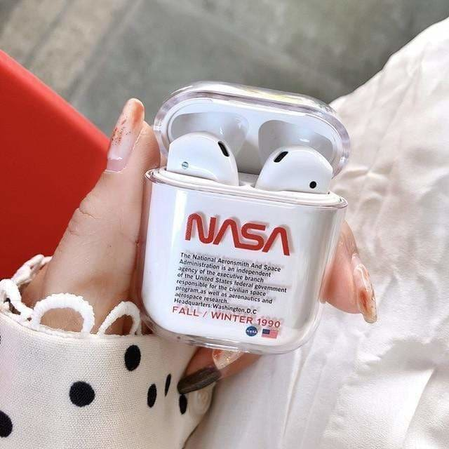NASA Style Astronaut Space Clear Hard Protective AirPods 1 & 2 Case - AshleySale
