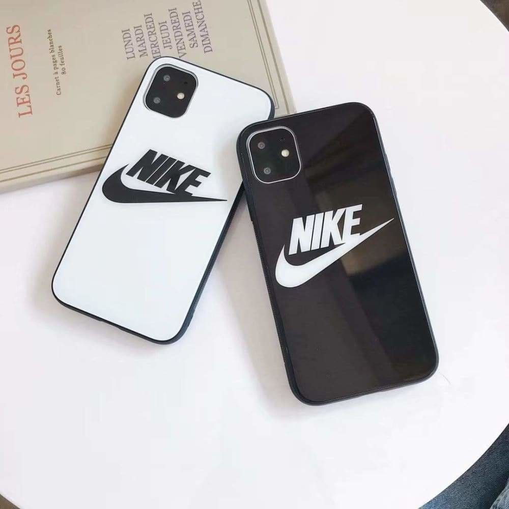 NIKE STYLE TEMPERED GLASS DESIGNER IPHONE CASE FOR IPHONE 12
