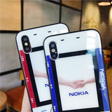Nokia Style Vintage Tempered Glass Bumper Designer iPhone Case - AshleySale