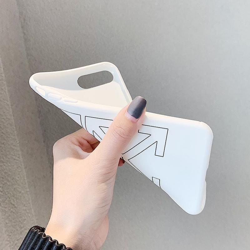 Off White OW Style Meme Matte Silicone Designer iPhone Case For iPhone X XS XS Max XR 7 8 Plus - AshleySale