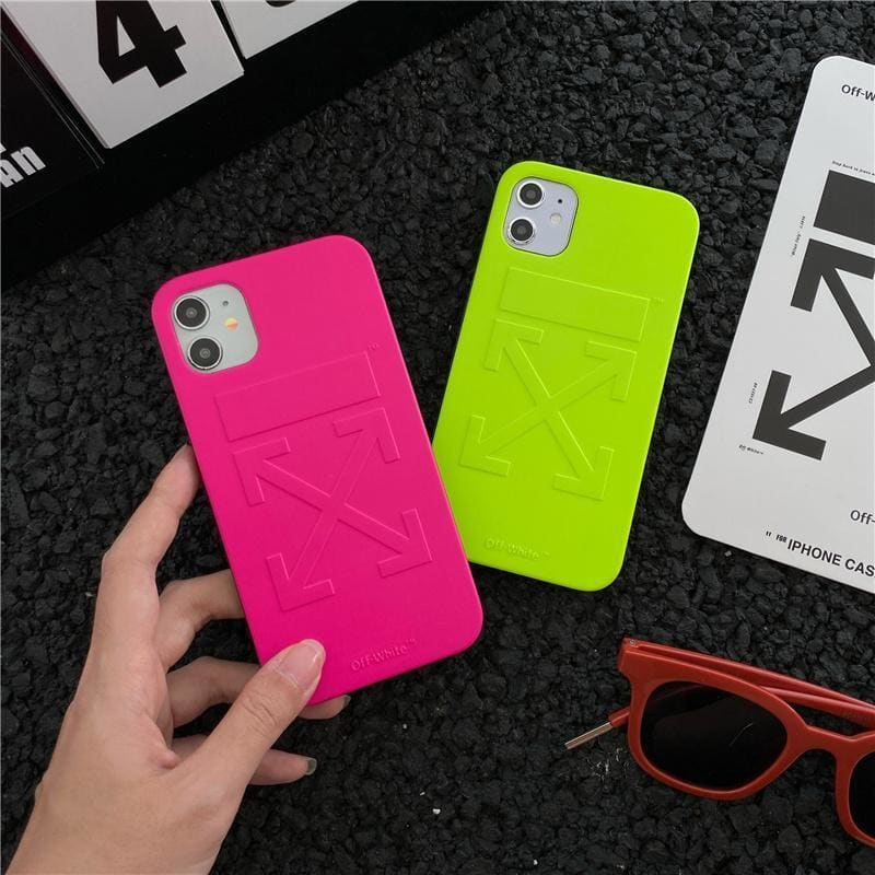 Off white Style  Silica gel  Protective Designer Iphone Case For Iphone 12 Pro Max Mini - AshleySale