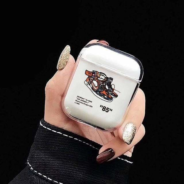 OFF White Style Street Trendy Clear Hard AirPods 1 & 2 Case - AshleySale