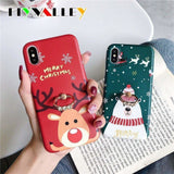 RING HODER MERRY CHRISTMAS DEER PHONE CASE FOR IPHONE 12 PRO