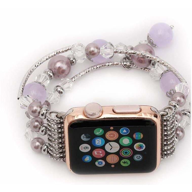 Rose Gold Jewelry Stretchable Shiny Apple Watch Bands Strap - AshleySale