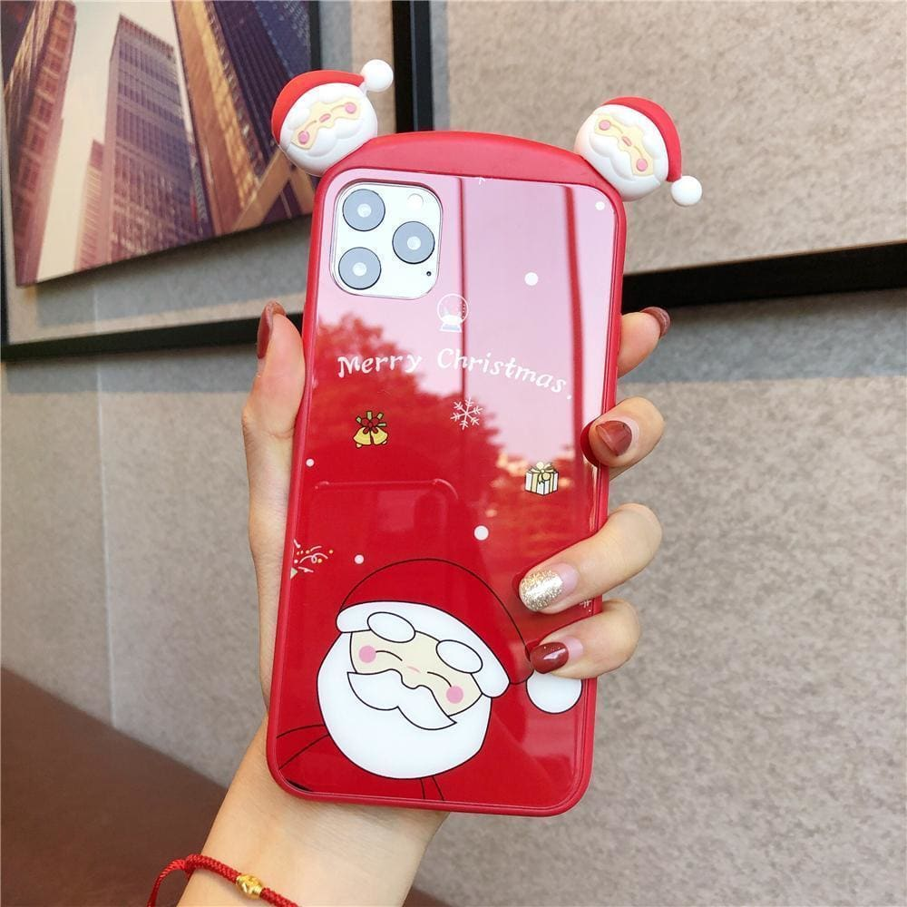 Santa Claus Xmas Deer Phone Case For iPhone 11 Pro XS MAX XR  Christmas Cartoon Toy Case For iPhone 11 Pro Max 8 7 6s Plus Case - AshleySale
