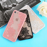 Sexy Fashion Floral Pink Black White Red Lace Soft Silicone Designer i - AshleySale