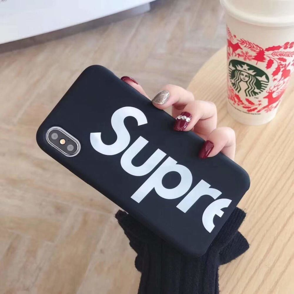 Supreme Style Silicone Logo Designer iPhone Case For iPhone X XS XS Max XR 7 8 Plus - AshleySale