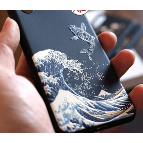 The Great Wave Kanagawa Ukiyo-e Silicone Designer iPhone Case For iPhone 11 Pro Max X XS XS Max XR 7 8 Plus - AshleySale