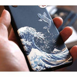 THE GREAT WAVE KANAGAWA UKIYO-E SILICONE DESIGNER IPHONE