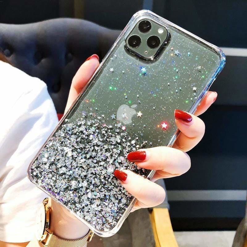 Transparent Quicksand Glitter Designer iPhone Case For iPhone 11 Pro Max X XS XS Max XR 7 8 Plus - AshleySale