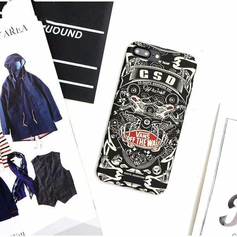 Vans Style Luminous Street Fashion Silicone Designer iPhone Case - AshleySale