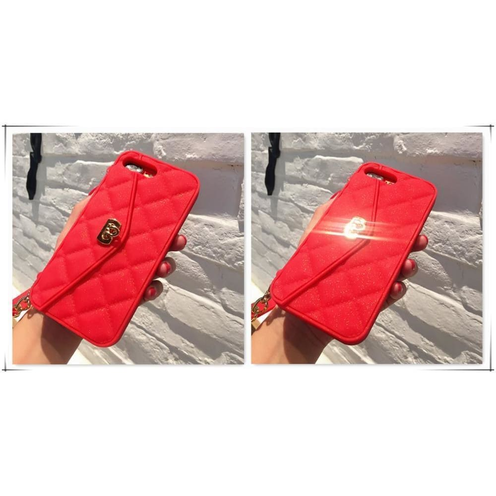 Viral on Instagram Luxury Style Silicone iPhone Case With Lanyard En C - AshleySale