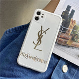 ysl Style Silica gel  Protective Designer Iphone Case For Iphone 12 Pro Max Mini - AshleySale