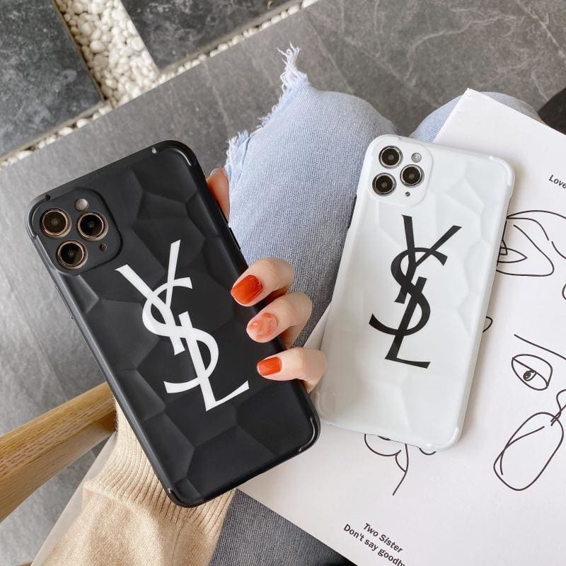 ysl Style Soft glue  Protective Designer Iphone Case For Iphone 12 Pro Max Mini - AshleySale