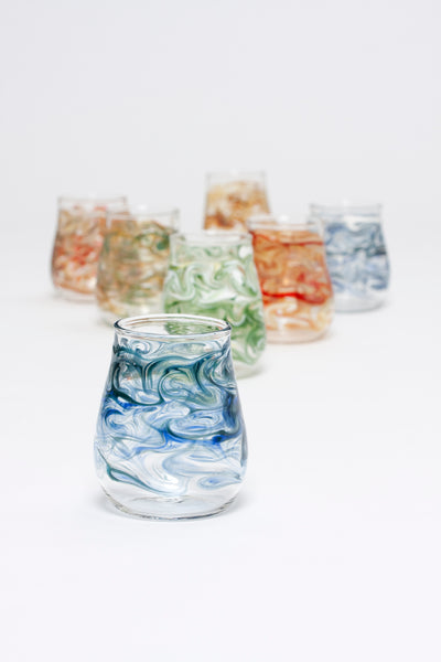 Handblown Stemless Wine Glasses In Many Colors