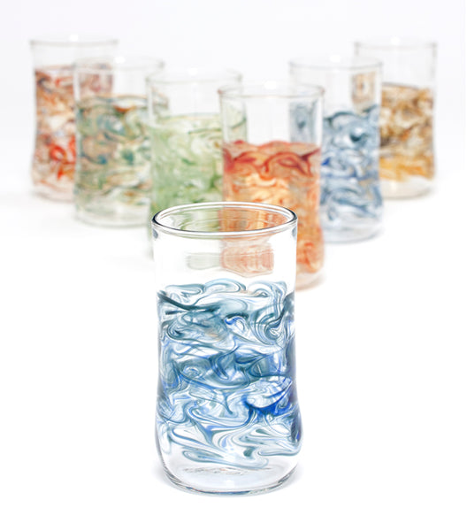 Handblown Glass Tall Tumblers
