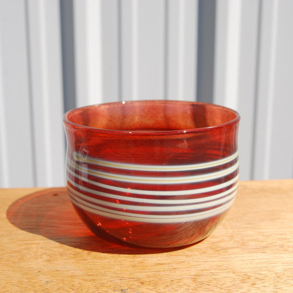 Handblown Red Glass Bowl
