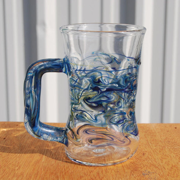 Handblown Glass Cobalt Mug Large Size.