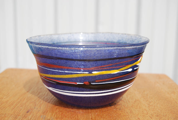 Handblown Blue Glass Bowl