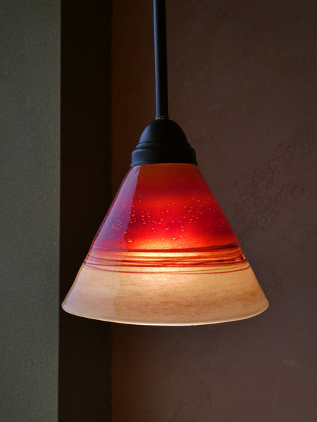 Handblown Red Glass Pendant Lights
