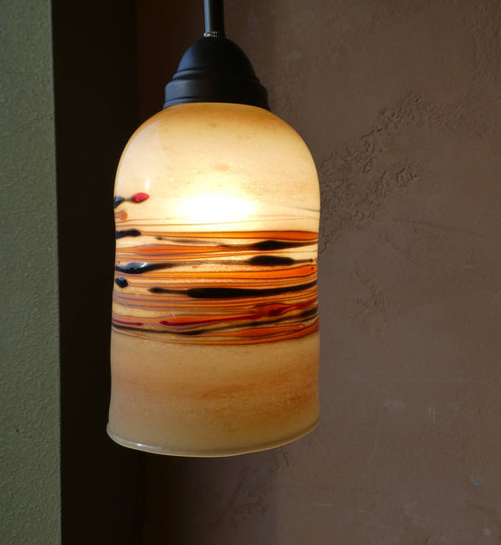 Handblown Light Amber Glass Pendant Lights
