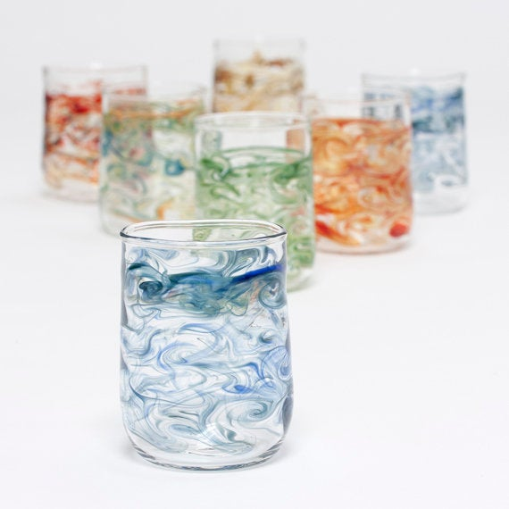 Handblown Glass Short Tumblers